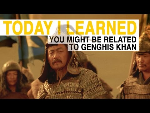 TIL: You Might Be Related to Genghis Khan