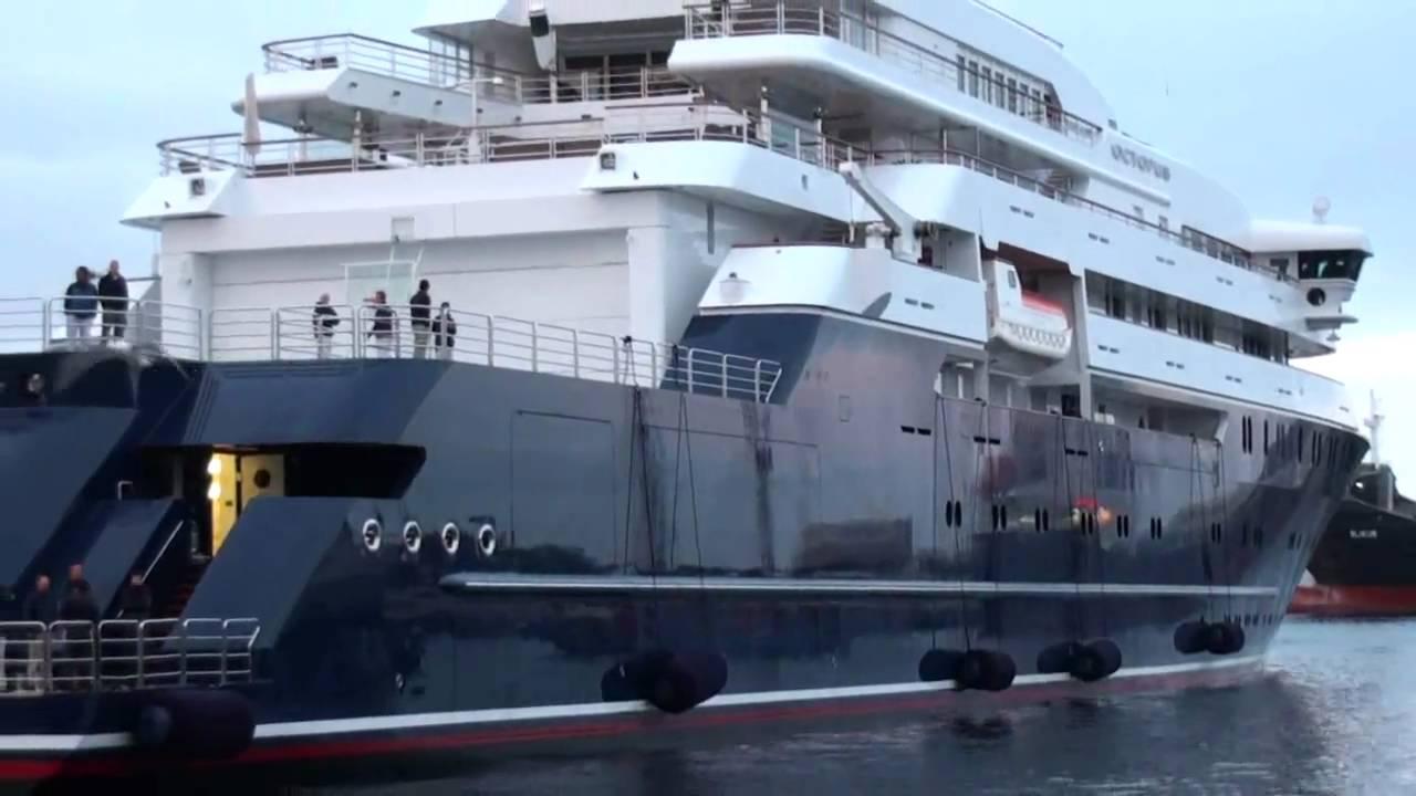 The Octopus Paul Allen S Yacht In Torshavn Youtube