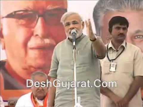 Narendra Modi attacks Manmohan Singh Dehgam speech