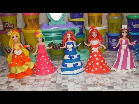 Как сделать из пластилина куклам платья