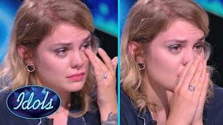 Most Emotional Audition Ever Judge Breaks Down After Contestant Sings Her Song Idols Global