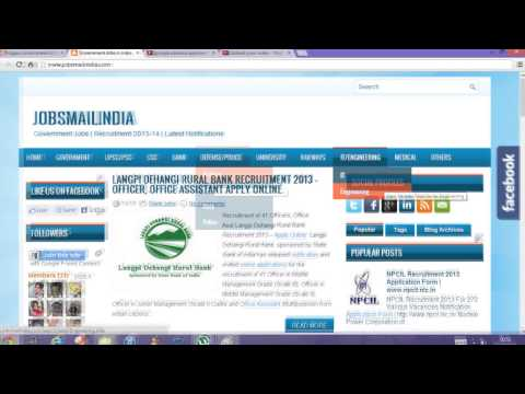 Government Jobs in India   Recruitment 2013-14   Latest Job