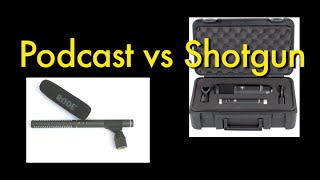 Podcast / Voiceover vs Shotgun / Boom Microphones in Voiceover Setting