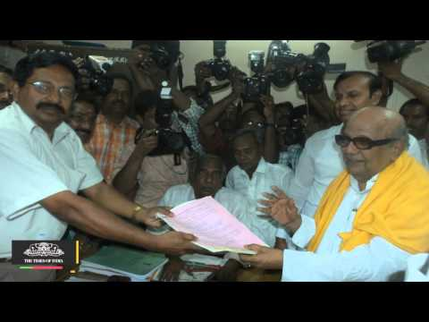 DMK Re elects M Karunanidhi as Party Chief - TOI