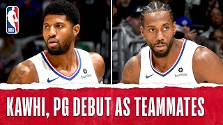 Kawhi & PG Debut As Teammates!