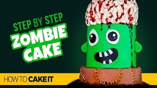How To Make A FUN Zombie Cake by Sam Lapointe  How To Cake It Step By Step