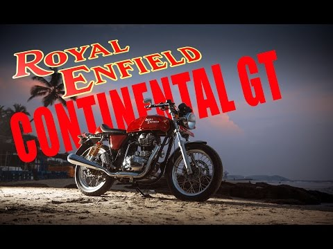 Royal Enfield Continental GT road tested in Goa, India.