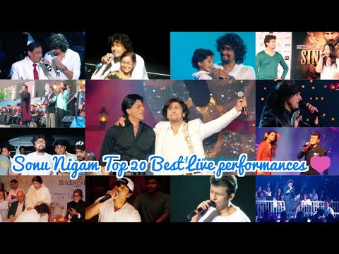 Sonu Nigam Top 20 Best live performances which will make you his Fan | With Lata ji , his Mom , Dad.