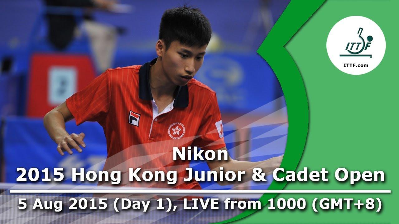 2015 Nikon Hong Kong Junior & Cadet Open – ITTF Golden Series Junior Circuit – Day 1 LIVE