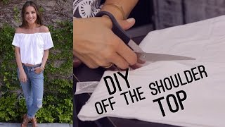 DIY Off The Shoulder Bardot Top (STYLEWIRE)   Hollywire