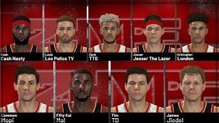 NBA 2K19 - How To Create All Of 2Hype (Jesser, Cash Nasty, LSK, Los Pollos TV, Mal, Mopi, TTG)