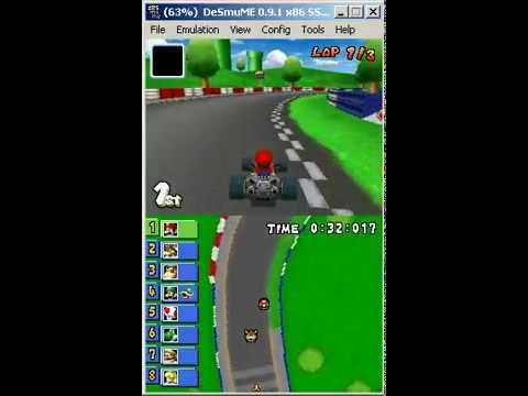 DeSmuME DS Emulator - Playing Mario Kart .nds rom