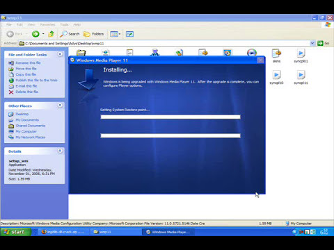 How to install windows media player 11 without a valid license for Windows Genuine!