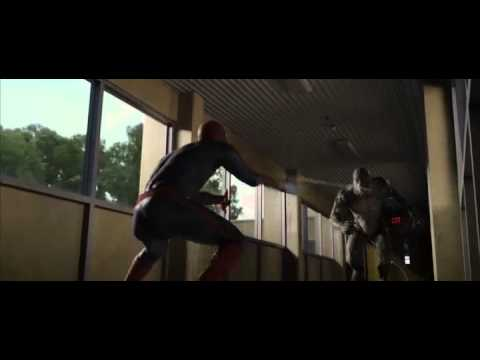 The Amazing Spiderman Vs The Lizard Fight School Or College Or University Fight Hd Hq.f4v video
