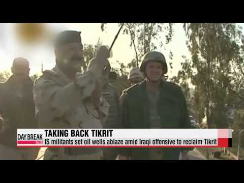 IS militants set oil wells ablaze amid Iraqi offensive to reclaim Tikrit   이라크군,