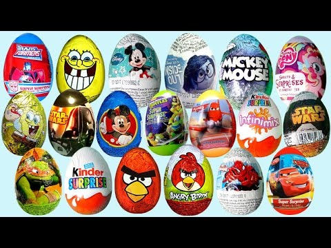 Cars 2 Surprise Eggs Mickey Mouse Kinder Egg Disney Pixar ... - photo#31