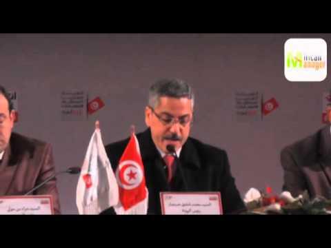 conférence de presse de président de l'ISIE, Chafik Sarsar