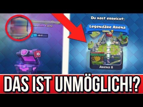 Das ist UNMÖGLICH..! | LEGENDÄRE ARENA ERREICHT! + LEGENDÄRE KARTE GEZOGEN! | Clash Royale deutsch