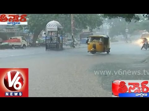 Heavy rains in Telangana traffic woes for Hyderabad people -...