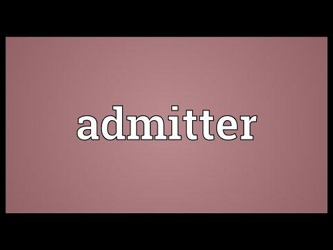 Header of Admitter