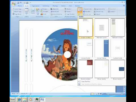 How to make labels for cd dvd disc