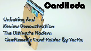 CardHoda Unboxing And  Review Demonstration The Ultimate Modern  Gentlemen