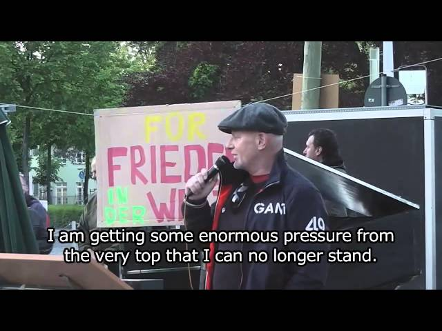 "Aerospace Worker: ""I Installed Chemtrails Devices"" @ Monday Demonstration 5/12/2014 - ENGLISH SUBS"