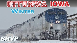 Ottumwa Trains: Winter Selections - Railfanning BNSF, CP, Amtrak, BJRY in Ottumwa, Iowa