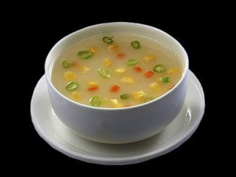 Sweet corn soup recipe in telugu // vegetarian corn soup recipe restaurant style