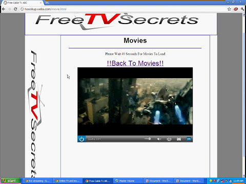 How To watch free cable tv online