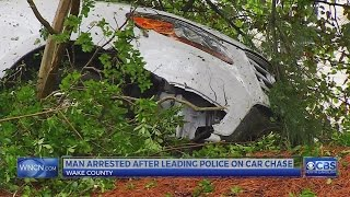 Man tries to hit Clayton police car, crashes during Wake Co. chase, officials say