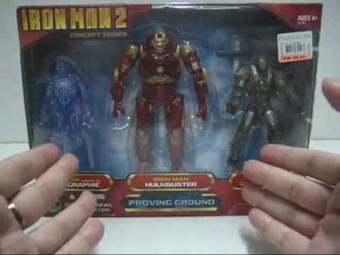 2010 Hasbro Iron Man 2 Proving Ground Pack Part 1 - Recon War Machine Toy Review