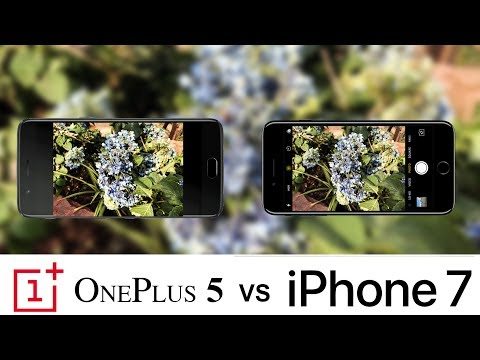 Oneplus 5 Vs iPhone 7 Camera Test