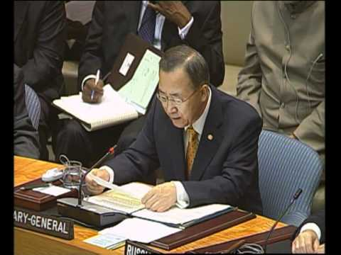 MaximsNewsNetwork: SOMALIA: ACTS OF PIRACY: UN's S-G BAN KI-MOON @ SECURITY COUNCIL (UNTV)