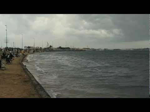Cloudy Sky and Beautiful Red Sea Waves in Jeddah [HD Video]