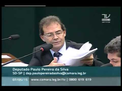 Dep Paulo Pereira da Silva faz leitura de requerimento que convoca Rodrigo Janot na CPI