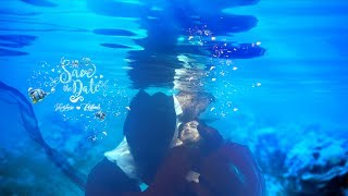 Francis Alukkas son Varghese Alukkas  & Reshma Rose Underwater Save The Date 2019