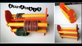 DIY : How To Make Double Sided Bangles | Bracelet Stand