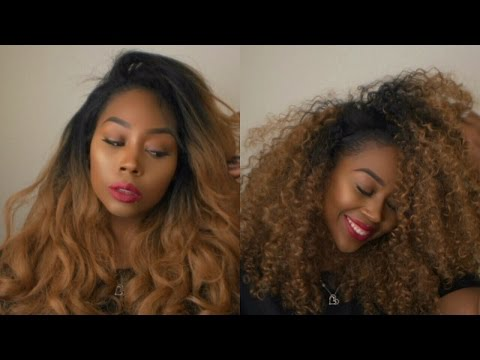 2-in-1 Outre Stunna + Dominican Curly half wig Reviews | Affordable | RhythmNBeauty