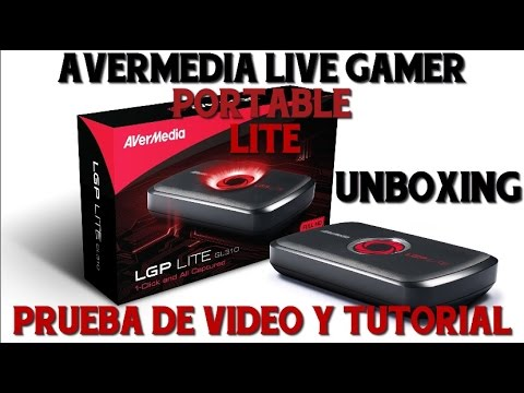 unboxing avermedia live gamer portable lite prueba de v deo tutorial youtube. Black Bedroom Furniture Sets. Home Design Ideas