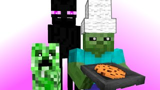 Monster School: Kids Mobs - Baking (Minecraft Animation)