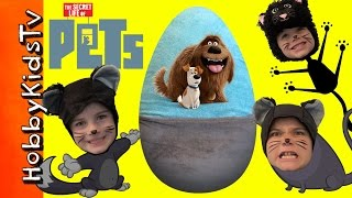 Giant PETS Surprise Egg with Toys From The Movie by HobbyKidsTV