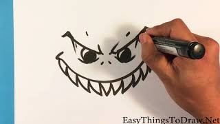 How to Draw Angry Monster Face - Step by Step Beginners