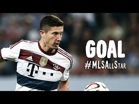 GOAL: Robert Lewandowski fires in the opening goal | MLS All-Stars vs FC Bayern München