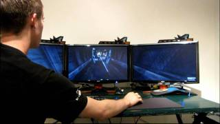 nVidia GeForce 3D Vision Surround Batman Arkham Asylum Linus Tech Tips
