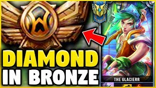 I TOOK MY RIVEN INTO BRONZE FOR THE FIRST TIME! DIAMOND RIVEN VS BRONZE ELO! - League of Legends