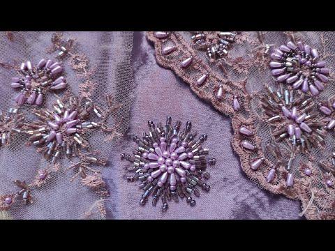 Вышивка бисером на одежде - много схем для вас