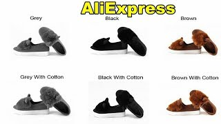 Slip ons shoes platform flats 2017 New winter boots Fashion Real Fur Shoes