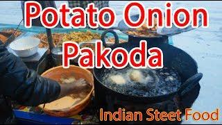 Tasty Indian Street Food - Fried Potato Snack (Aloo Pakoda)
