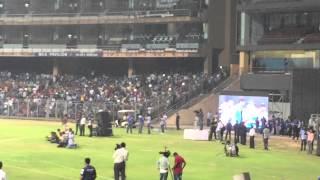 Sachin Tendulkar marathi speech IPL8 winning celebration at Wankhede